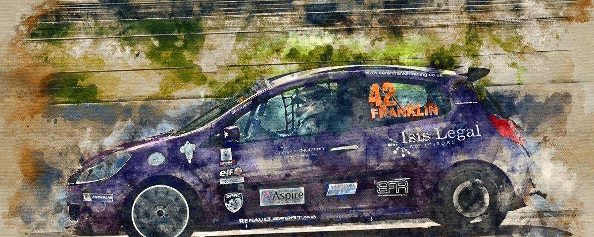 Sarah Franklin of Sarah Franklin Racing in her Renault at Rockingham